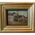 """Enzinger """"Landhaus mit Pferden"""""""
