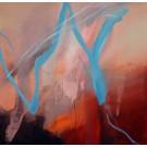 Almbauer Abstrakt  rot-blau