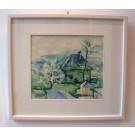 """Staudacher """"Haus in grün-blau"""", Frühwerk aus 1949"""
