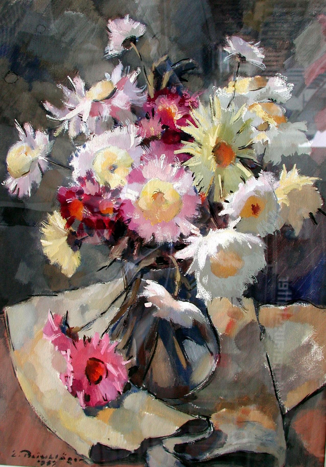 Beischläger Blumenstrauß in Vase