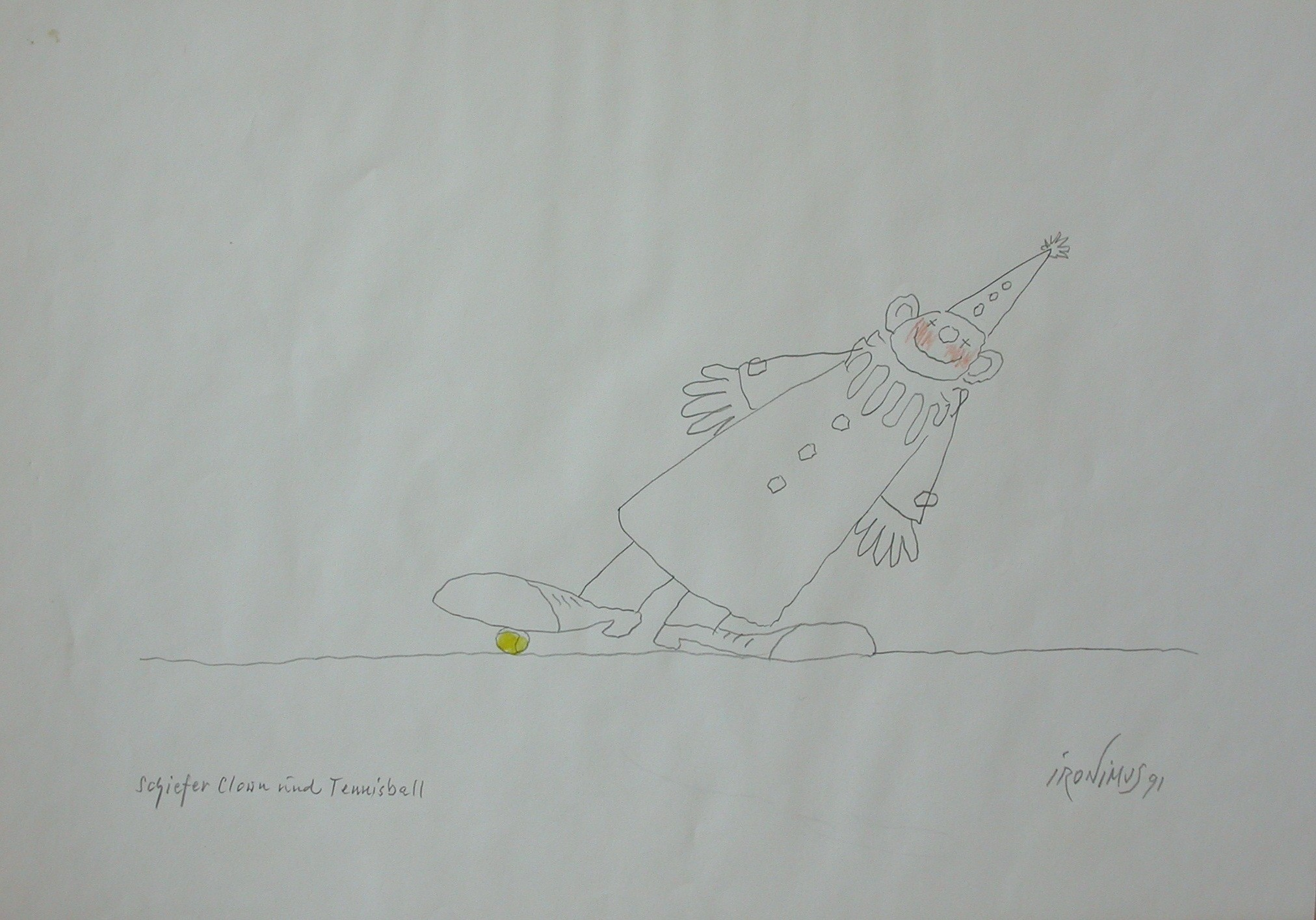 """Ironimus """"Schiefer Clown und Tennisball"""""""