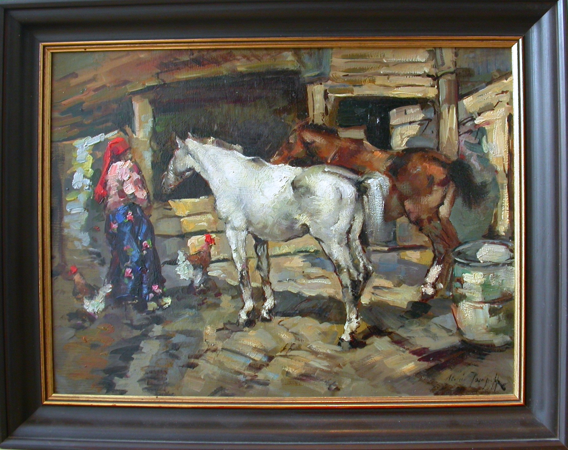 """Issupoff """"Pferde beim Füttern"""""""