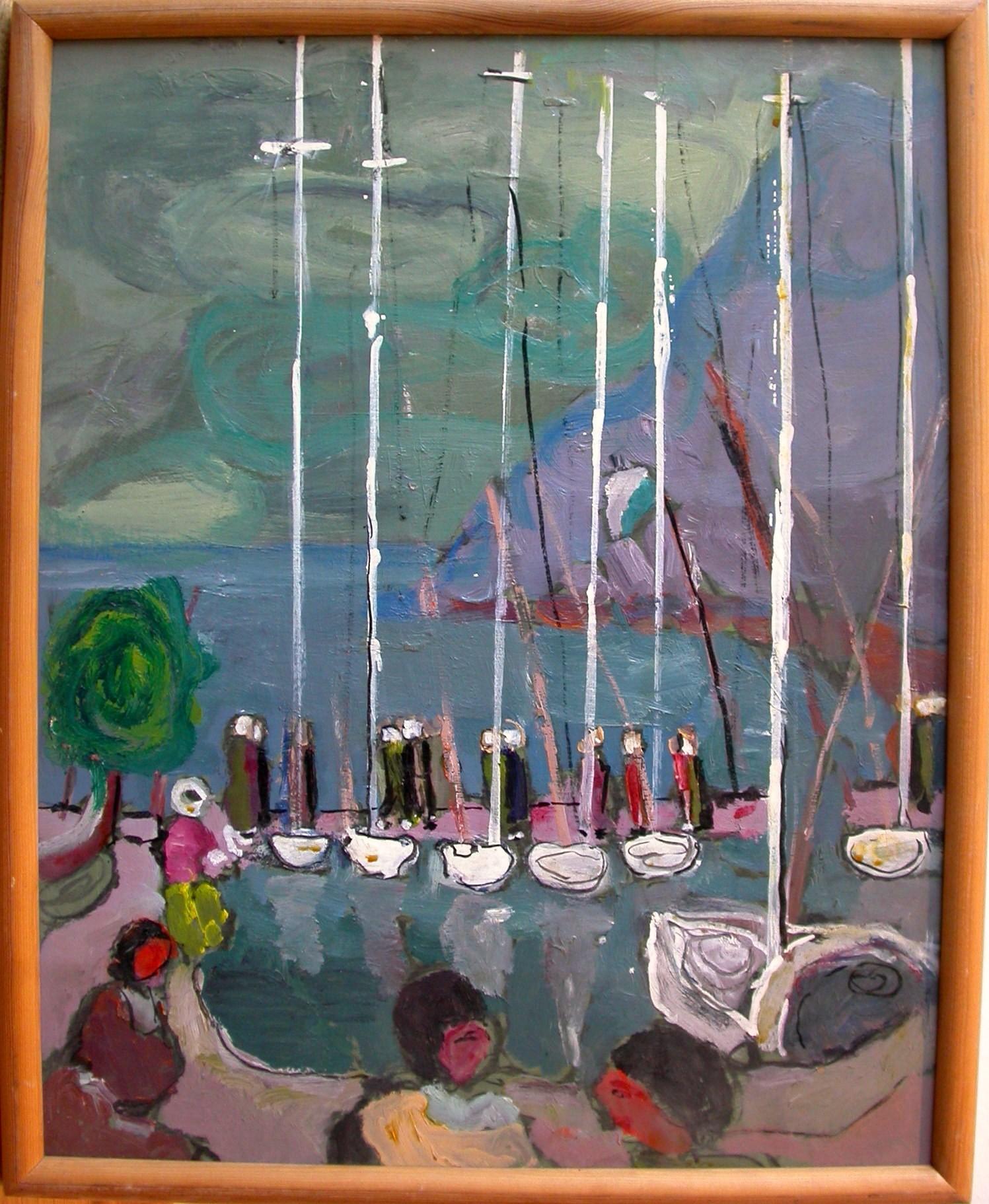 """Ullik """"Segelboote im Hafen"""""""