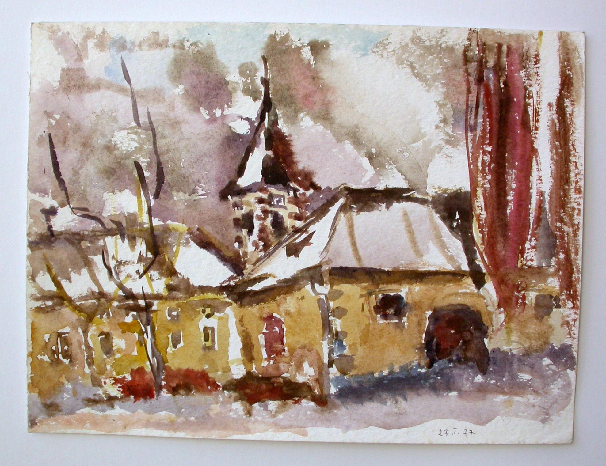 "Ullik ""Kirche im Winter"""