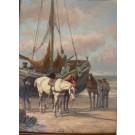 """Koekkoek """"Fischerboot mit Pferden"""""""