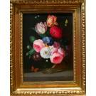 """Dogarth """"Biedermeierliches Blumenstilleben in Glasvase"""""""