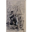 "Myrbach-Rheinfeld ""Soldat mit Waffe im Anschlag in Maisfeld"""